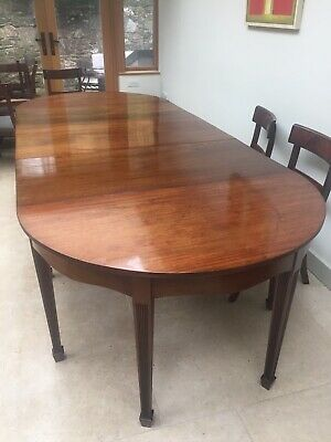 Edwardian Mahogany 8 - 12 Seater Antique Dining Table With D Ends **REDUCED**