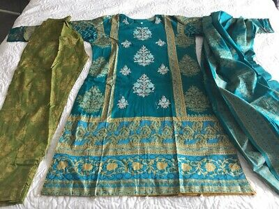 Pakistani Embrioded Lawn STITCHED. Readymade M Shalwar Kameez Asian Indian B