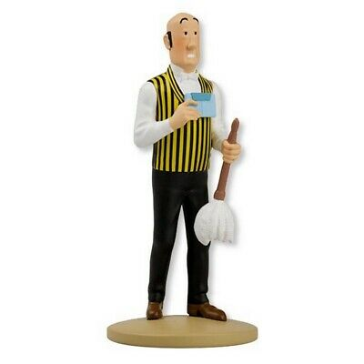 Figurine de collection Tintin Nestor avec plumeau Moulinsart 42227 (2019)
