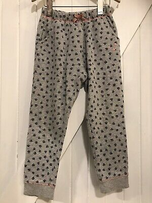 White Stuff 3-4 years Joggers Paw Print Lounge Bottoms Joggers grey Marl