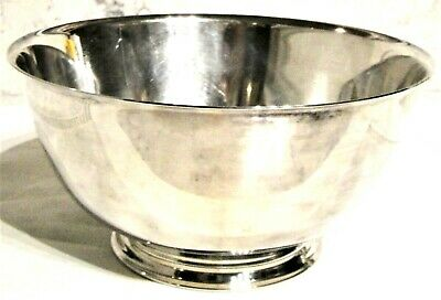 """Paul Revere Oneida Silversmiths reproduction Silver Plated Footed bowl 8"""""""