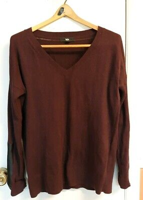 MOSSIMO Women/'s Juniors XS Brown Thin Button Down Cardigan RN17730 VN1268582