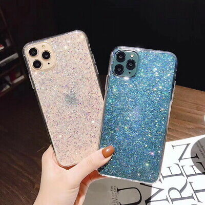For iPhone 11 Pro Max XS XR X 8 7 6S Plus Bling Shockproof Soft Gel Case Cover