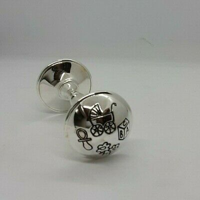 Silver Plated Twinkle Twinkle Luxury Baby Rattle NEW Boxed Gift