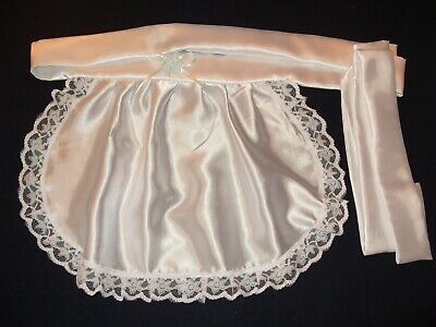 Maids/Sissy/Adult Baby/Goth/Unisex Satin Apron With Lace Trim