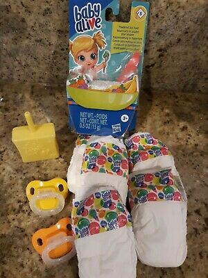 Baby Alive Refill Pack For New Happy Hungry Baby Doll, Food, Pacifiers,