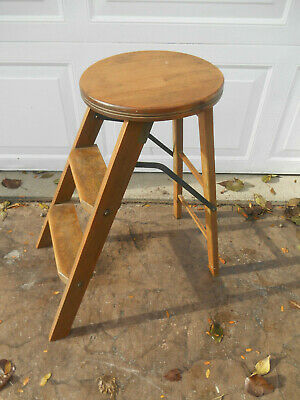 Amazing Rare Antique 1913 Jrc Folding Library Step Stool Ladder Gmtry Best Dining Table And Chair Ideas Images Gmtryco