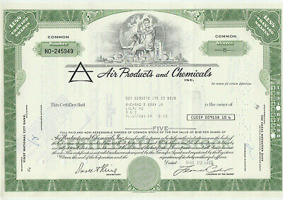 Air products & Chemicals Stock Certificate