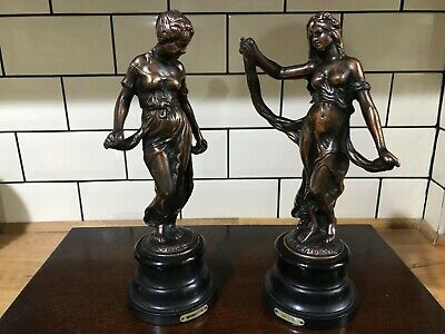 Antique French Art Nouveau Figurines: Metal with Copper Finnish - 2kg each