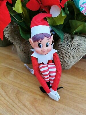 Sitting Elf Girl Christmas Naughty Toys Shelf Decoration Shelf Decoration