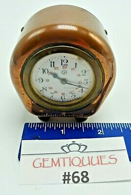 ANTIQUE VINTAGE GERMAN Brass Barrel Clock Junghans