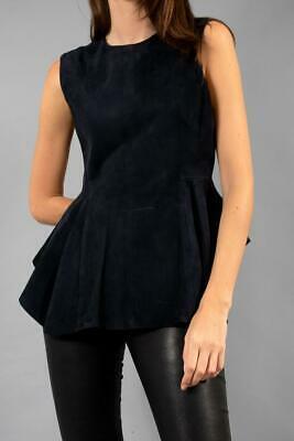Theory Navy Suede Top | Size M