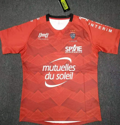 NEW 2019-2020 Toulon home Rugby jerseys man T-shirt Size :S-3XL