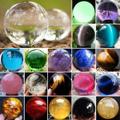 Rare Natural Quartz Magic Gemstone Sphere Crystal Reiki Healing Ball Stone Lot