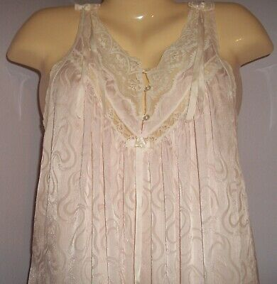 CHRISTIAN DIOR Pink Satin and Lace Long Nightgown Paris & New York