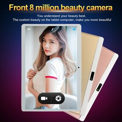 10.1'' inch Tablet 8G+128G Android 8.0 bluetooth 3G WiFi PC Dual Cam GPS Phablet