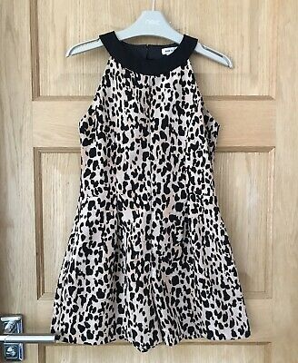 RIVER ISLAND *9 GIRLS Animal Print Autumn Winter PLAYSUIT OUTFIT 9 YEARS