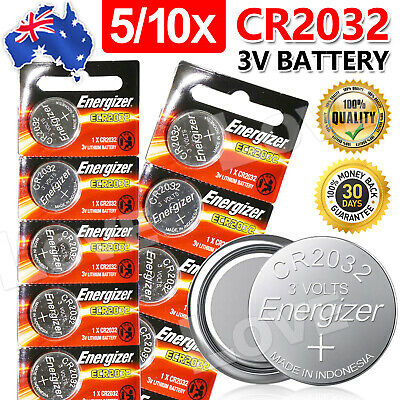 Up10x For ENERGIZER BUTTON COIN CELL CR2032 CR 2032 3v Lithium Battery Batteries