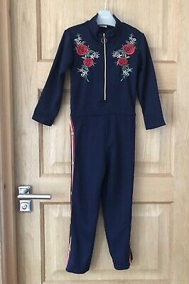 RIVER ISLAND *4-5y GIRLS BLUE JUMPSUIT  Autumn Winter OUTFIT 4-5 YEARS