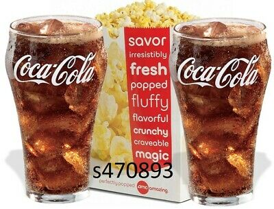 AMC Large Popcorn and 2 Large Fountain Drink expires 6/30/2020 fast e-delivery