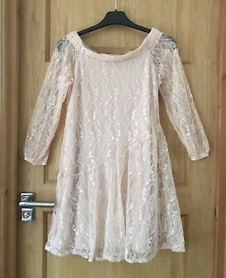 RIVER ISLAND *11-12y GIRLS  PEACH LACE AUTUMN Winter PARTY OUTFIT 11-12 YEARS