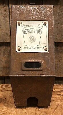 Antique 1916 COLUMBIAN Drinking Cups Gas Station Country Store Dispenser
