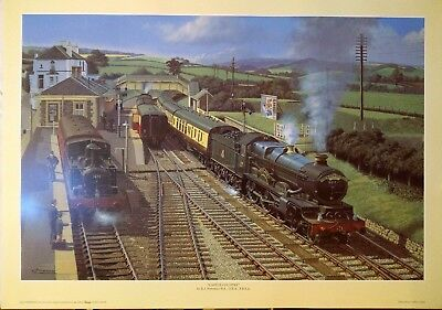 "LARGE GREAT WESTERN RAILWAY PRINT - ""CASTLE COUNTRY"" by B J FREEMAN GWR"