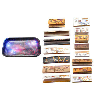 HORNET 16 x Classic King Size Rolling Papers + Natural Paper Tips + Metal Tray
