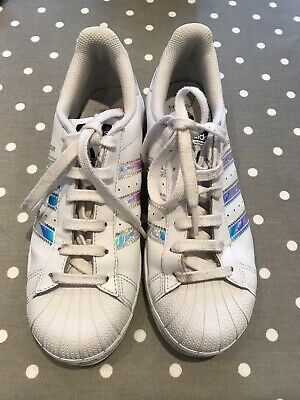 Girls Adidas Superstar Trainers. Size 5