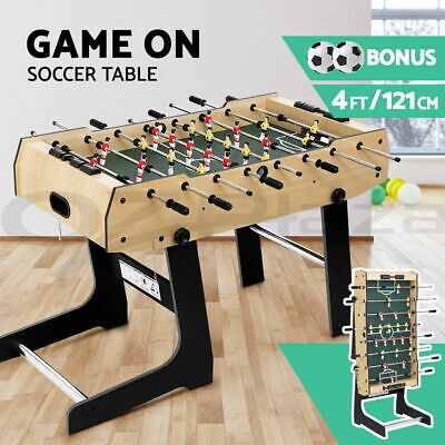 Indoor Soccer Table Football Foosball Party Game 4ft Foldable