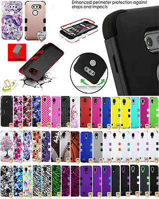 ALCATEL 3v 2019 5032w Shockproof HYBRID Armor Rubber Protector Rugged Case Cover