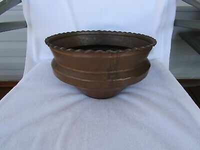 "ANTIQUE~ Large Dove Tail Copper Planter~[ 7.5"" x 12.5"" ]~~[ 4-1/2 POUNDS]~L@@K"
