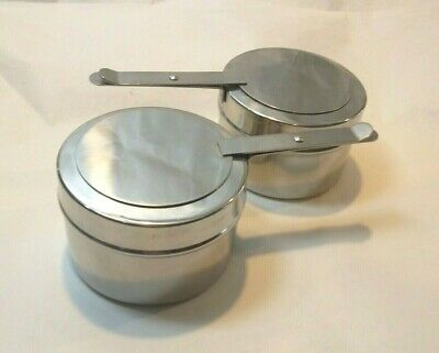 Chafing Buffet Sterno Holder 2 ea. W / Cover, Fuel Holder, Stainless Steel