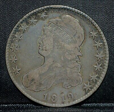 1819-P Capped Bust Half Dollar ✪ Vf Very Fine ✪ 50C Silver L@@K Now ◢Trusted◣