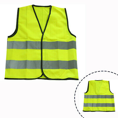 Kids Hi Vis Viz Safety Vest Children High Visibility Reflective Waistcoat Jacket