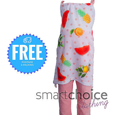Girls Summer Outfit Top and Leggings White Peach Fruit Design