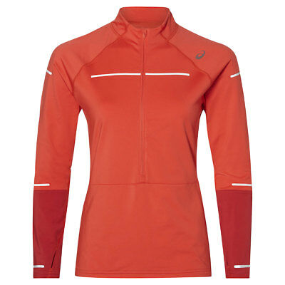 Asics Lite-Show Winter Longsleeve 1/2 ZIP Lady | 2012A007-600 red alert/samba