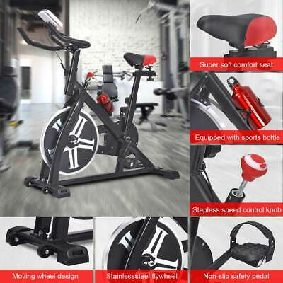 Heavy Duty Hydraulic Exercise Bike Stationary Power Cycling Bicycle Fitness Home