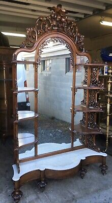 Carved Early Rococo Marble Top Etagere