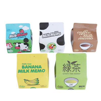 Milk Box Shaped Notebook Memo Bookmark Paper Sticker Notepad Notes one