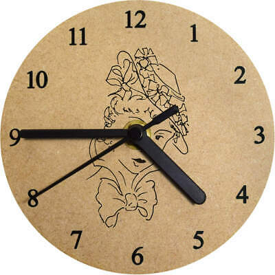 'Edwardian Lady' Printed Wooden Wall Clock (CK003505)