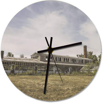 'Abandoned Factory' Printed Wooden Wall Clock (CK001381)