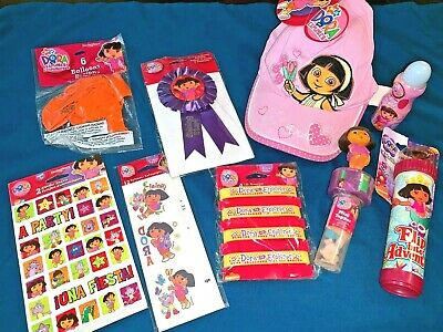Dora The Explorer Fan Party Fun Pack Hat Cap Balloons Candy Stickers Tatoos MORE