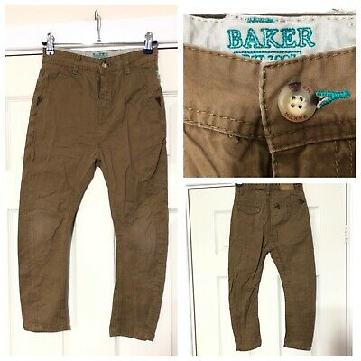Ted Baker Boys Trousers Chinos 8 Years Dark Beige (A893)