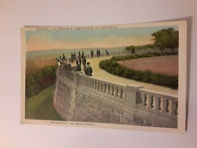 Vintage Postcard The Lookout on Mount Royal Montreal Canada