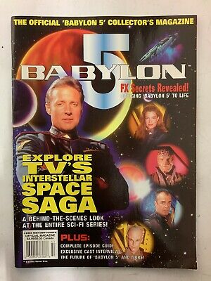 Babylon 5 The Official Magazine 1995 Collector's Explore Interstellar Space Saga