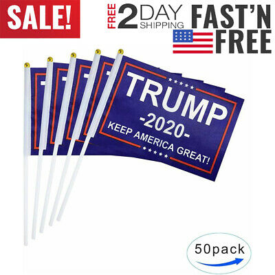 Tsmd 50 Pack Donald Trump Flag For President 2020 Keep America Great Flag Small