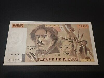 France. 100 Francs. 1993. P154g. UNC. Beautiful note. See Photos. *30