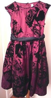 Nwot New Tu Girls 12 Years Christmas Party Dress Fit Flare Dark Red Black