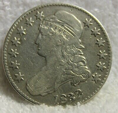 1832 capped bust half dollar large letters